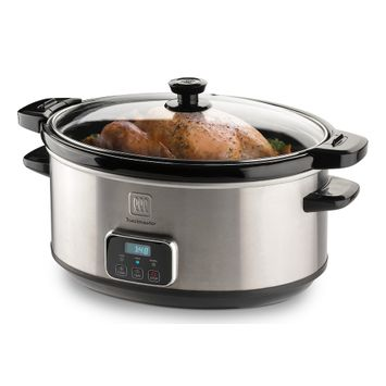 Toastmaster 7-qt. Digital Slow Cooker with Locking Lid, Silver