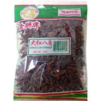 大红八角Golden Lion Dried Whole Chinese Star Anise Pods 3 oz (pack of 2)