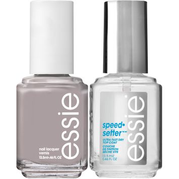 essie® nail polish & top coat kit without a stitch polish & speedsetter top coat
