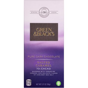 Green & Black's Salted Caramel 70% Cacao Pure Dark Chocolate