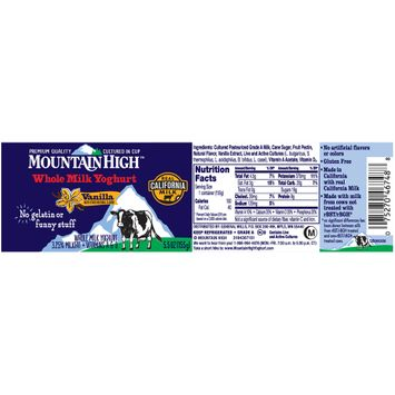 Mountain High™ Vanilla Whole Milk Yoghurt