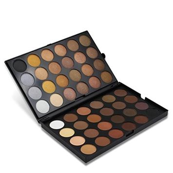 Tuu Natural 48 Color Matte Pearl Glitter Shimmer Long Lasting Eye Shadow Palette Eyeshadow Cosmetic Makeup for Daily Use