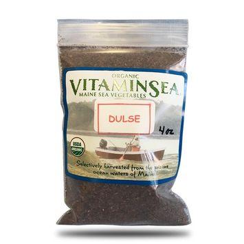 Organic Dulse Granules Maine Seaweed - 4 oz bag - USDA & Vegan Certified - Kosher - Hand Harvested from the Atlantic Ocean Coast - Sun Dried Raw and Wild Sea Vegetables VitaminSea (Dulse gran 4oz)