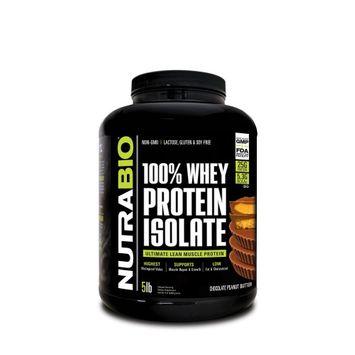 Nutra Bio NutraBio Whey Protein Isolate Powder, Chocolate Peanut Butter, 5 Lb