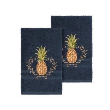 Welcome 2-Pc. Embellished Hand Towel Set