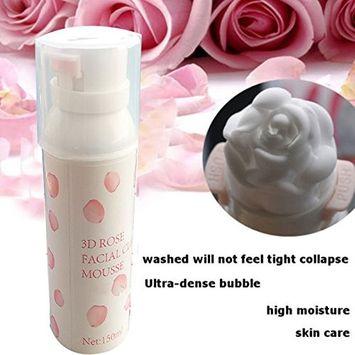 MSmask 3D Rose Face Wash Foam Cleanser Skin Care Acne Blackhead Remover 150ml
