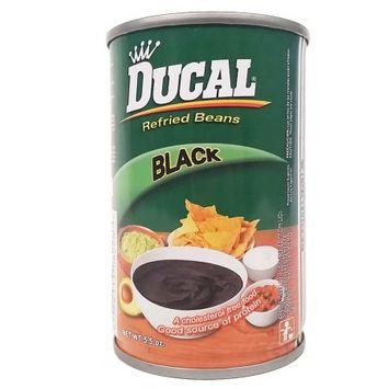 Ducal Refried Black Beans 5.5 oz - Frijoles Negros Refritos