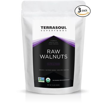 Terrasoul Superfoods Organic Raw Walnuts, 3 Pounds