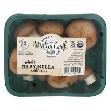 Organic Baby Bella Mushrooms, 8 oz