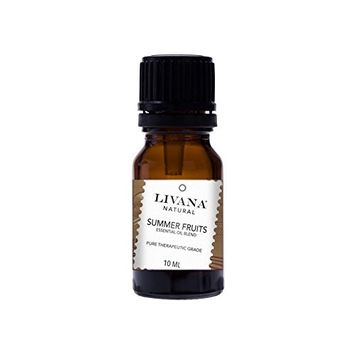 Summer Fruits Signature Essential Oil Blend by Livana, 10ml, for Aromatherapy, Diffusors and DIY Beauty Products [Summer Fruits]