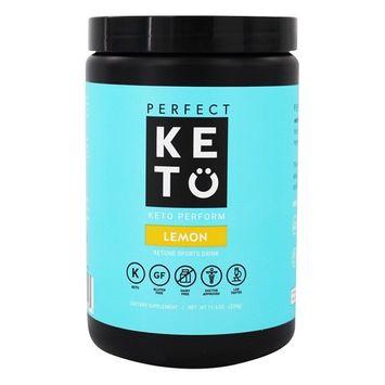 Keto Perform Ketone Sports Drink Pre-Workout Powder Lemon - 11.4 oz.