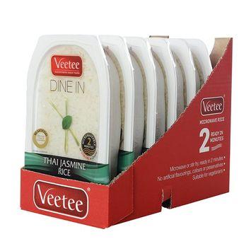 Veetee Dine In Rice - Microwavable Thai Jasmine Rice - 10.6 oz - Pack of 6 [Jasmine]