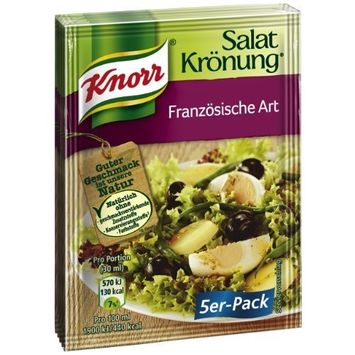 Knorr Salat Kronung Franzosische Art (Salad Herbs, French-Style), 5-Count Packets (Pack of 5)