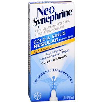 Neo-Synephrine Nasal Spray Regular Strength Formula 0.5 fl oz (15 mL) Each