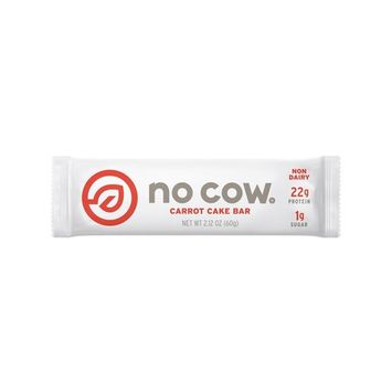 No Cow Protein Bar, Carrot Cake, 22g Plant Based Protein, Low Sugar, Dairy Free, Gluten Free, Vegan, High Fiber, Non-GMO, 12 Count - 2.12 oz Each [Carrot Cake]