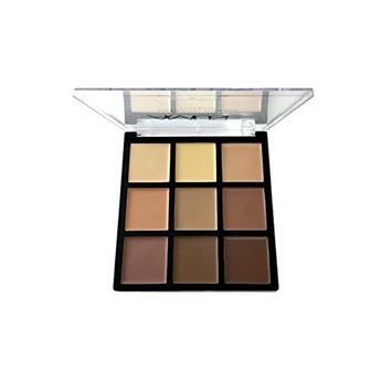 Womens Defining Cream Face Foundation Palette 9 colors KL175 (Natural (buy 2))