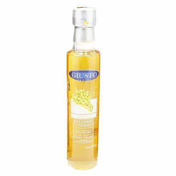 Giusto Sapore White Balsamic Vinegar 1.09/6% 8.5oz - Premium Italian Gluten Free Gourmet - Imported from Italy and Family Owned