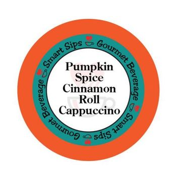 Smart Sips Coffee Pumpkin Spice Cinnamon Roll Cappuccino, 48 Count, Compatible With All Keurig K-cup Brewers