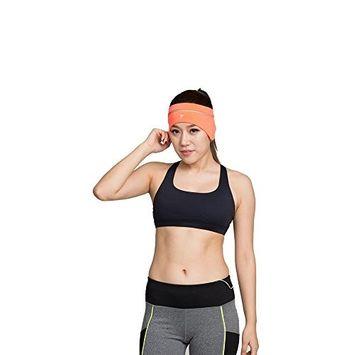 Sunvy 2pc Women's Hairband Elastic Sport Headband Earphone Stable hairbands Girls Head Wrap