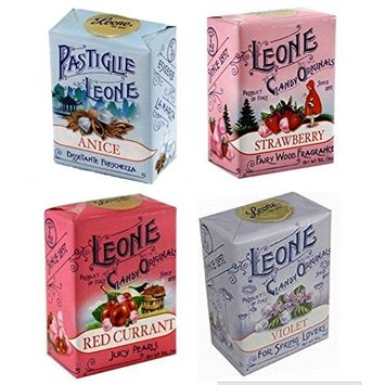 Leone 4-Pack Multipack (Violet, Red Currant, Anise and Strawberry)
