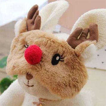 Fellibay Reindeer Eye Blinder Plush Sleep Masks Adjustable Sleep Mask for Christmas