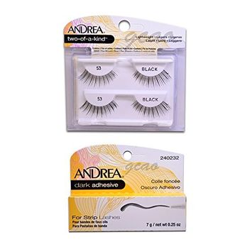 Andrea two of a kind Lashes 53 black + Strip Lashes Glue Dark 0.25 g