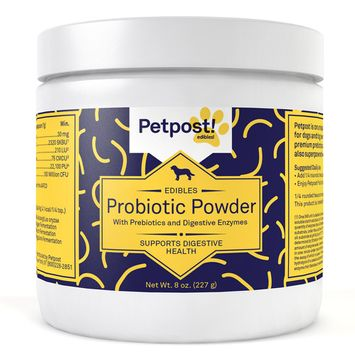 Petpost | Probiotics for Dogs - 227 Huge Servings of Powerful Pro & Prebiotics with Digestive Enzymes - Powder Supplement for Gas, Diarrhea, Vomiting, & Stomach Relief (8 Oz.)