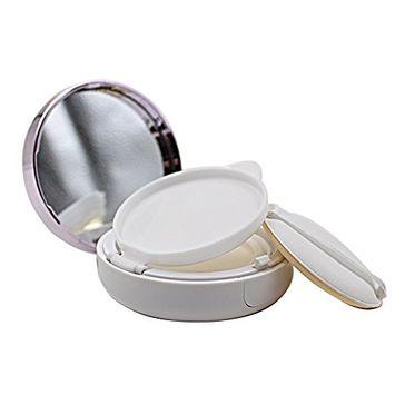 15ML 0.5OZ Empty Refillable Circular Powder Puff Box Portable Make-up Powder Container with Powder Puff for Air Cushion BB Cream Foundation