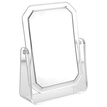2 Sided Self Standing Mirror with Second Side 3X Magnifier, Makeup Vanity Mirror, 1X & 3X Magnification with 360 Degree Rotation