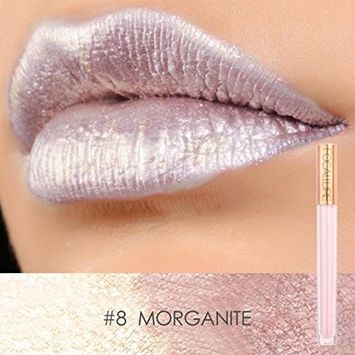 Women Metallic Lip Color, Lotus.flower Moisturize Shimmering Lipstick Long Lasting High Colority Lip Gloss Charming Makeup - Special Gift for Valentine