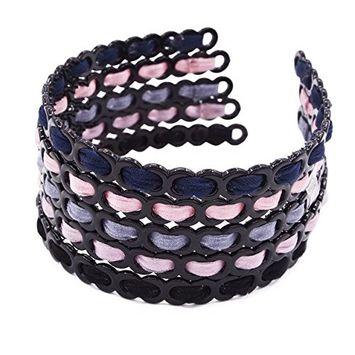 STHUAHE 5PC Woman Fashion Handmade Teeth Comb Hair Hoop Hairband Headband Hair Accessories by Beauty Hair