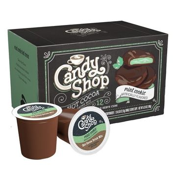 Candy Shop Hot Cocoa Cup, Mint Cookie, 12-0.53oz(15g) NET WET 6.35oz