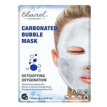 10 Sheets Carbonated Bubble Masks with Vitamin C, Volcanic Ash, Bentonite, Peptide & Plant-Derived Stem Cell