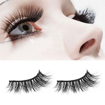 Jujunx 1 Pair Charming Crisscross 3D False Eyelashes Long Thick Natural Fake Eye Lashes (I)
