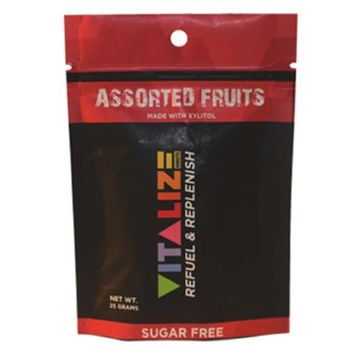 Vitalize Mints Assorted Fruits 1 oz Pouches (Pack of 6)