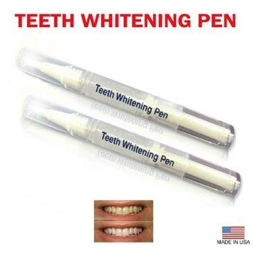 Always White Teeth Whitening Pens 35% White Gel Hydrogen Peroxide - Professional Twist Pen (2ml each) - For Sensitive Teeth - White your teeth on the go! 2 Packs