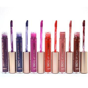 CELAVI 6 Ultra Matte Lip Gloss set Liquid Lipgloss Lipstick Dark Set 003 + FREE EARRING