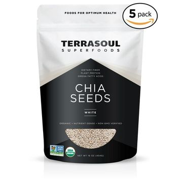 Terrasoul Superfoods Organic White Chia Seeds, 5 Pounds [White]