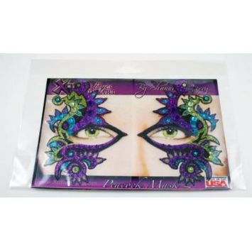 Xotic Eyes Peacock Mask Glitter Professional Eye Make up Costume Accessory