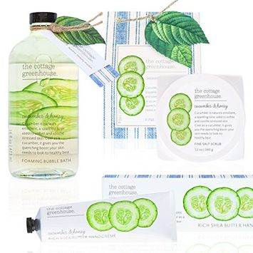 The Cottage Greenhouse Soothing Cucumber & Honey Gift Set