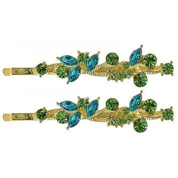 Pair of Crystal Hairpins 5A86400-1fuchsia