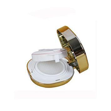 15ml 0.5oz Empty Square Portable Luxurious Air Cushion Puff Box Liquid Foundation BB Cream Container Holder Powder Cake Box Dressing Case with Powder Puff Air Cushion Sponge and Mirror(1 Pcs) (G