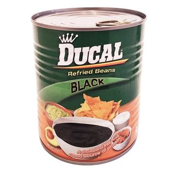 Ducal Refried Black Beans 29 oz - Frijoles Negros Refritos