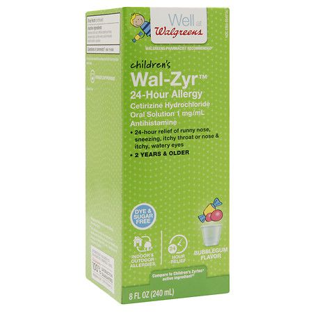 Walgreens Wal-Zyr Children's Sugar-Free Dye-Free Liquid