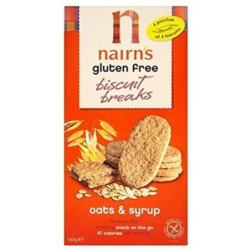 Nairn's Gluten Free Biscuit Breaks Oats & Syrup - 160g (Pack of 3)