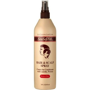 Softsheen Carson Sta- Sof-Fro Hair & Scalp Spray - Extra Dry 16 oz. (Pack of 2)