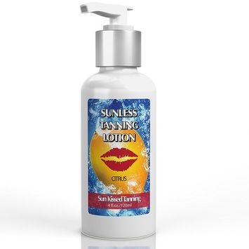 Best Sunless Tanner Lotion by Sun Kissed Tanning: Enough Self Tanning Lotion For Flawless Tan on Your Entire Body & Face. Healthy Tanner With Natural Ingredients (4oz)