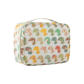 Large Cosmetic Bag Train Cases, Makeup Pouch Organizer Hanging Toiletry Bag Duck