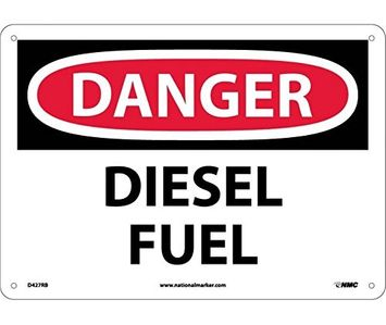 National Marker DANGER, DIESEL FUEL, 10X14, RIGID PLASTIC (Pack of 5)