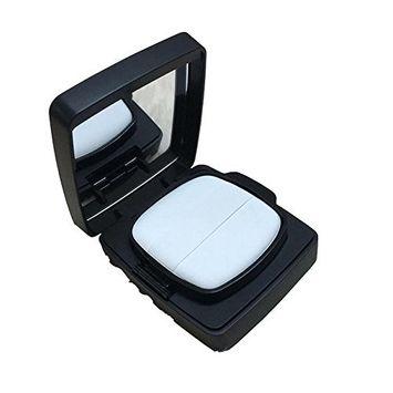 1Set 15ml/0.5oz Air Cushion Powder Puff Box with Mirror and Sponge Puff-DIY BB CC Cream Storage Containers Makeup Case Liquid Foundation Holder Beauty Tool(Black)